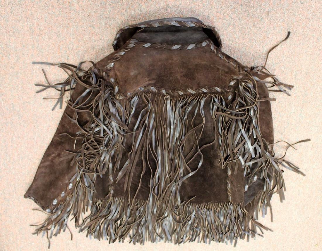 Vintage Suede and Fringe Men's Jacket - 5