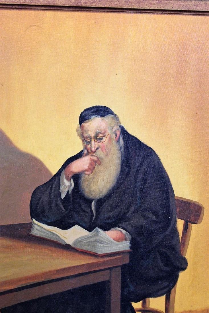 Straski; 20thC. Israeli Oil - A Rabbi Signed - 3