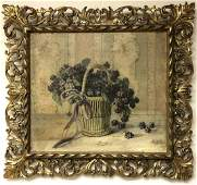 19thC. American School; Oil Still Life Signed