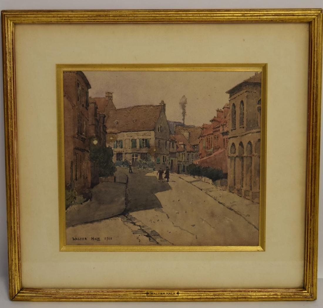 Walter Hale; American Watercolor Signed - 2