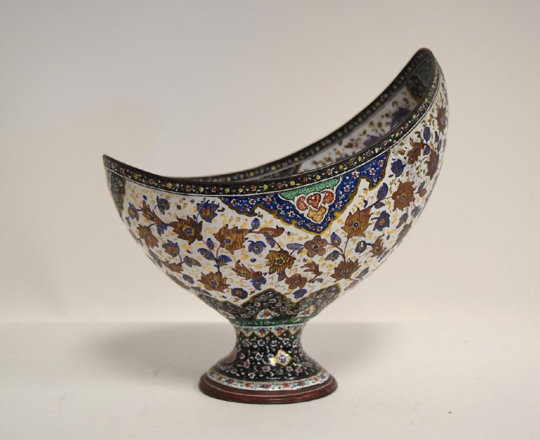 Unusual Persian Enameled Bowl