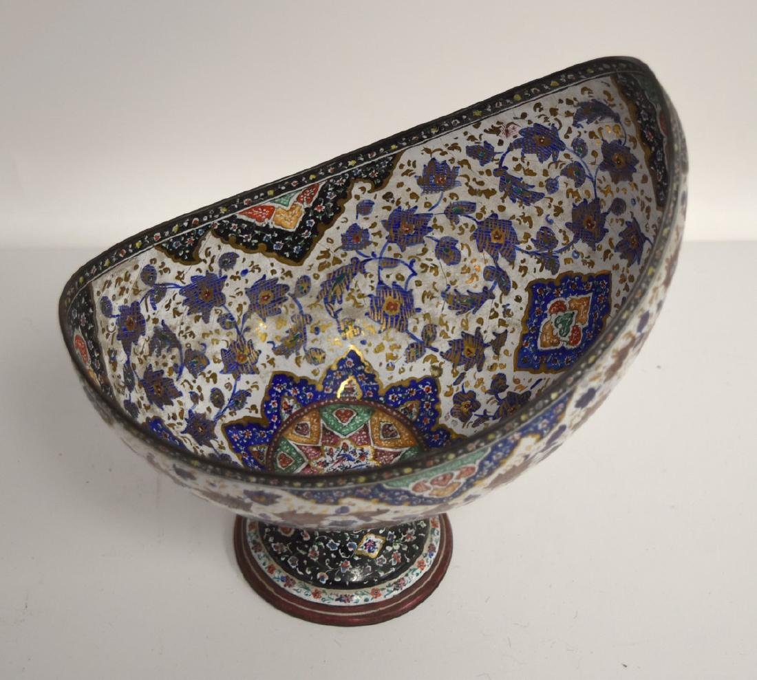 Unusual Persian Enameled Bowl - 3