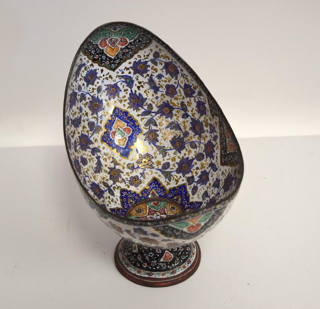 Unusual Persian Enameled Bowl - 4