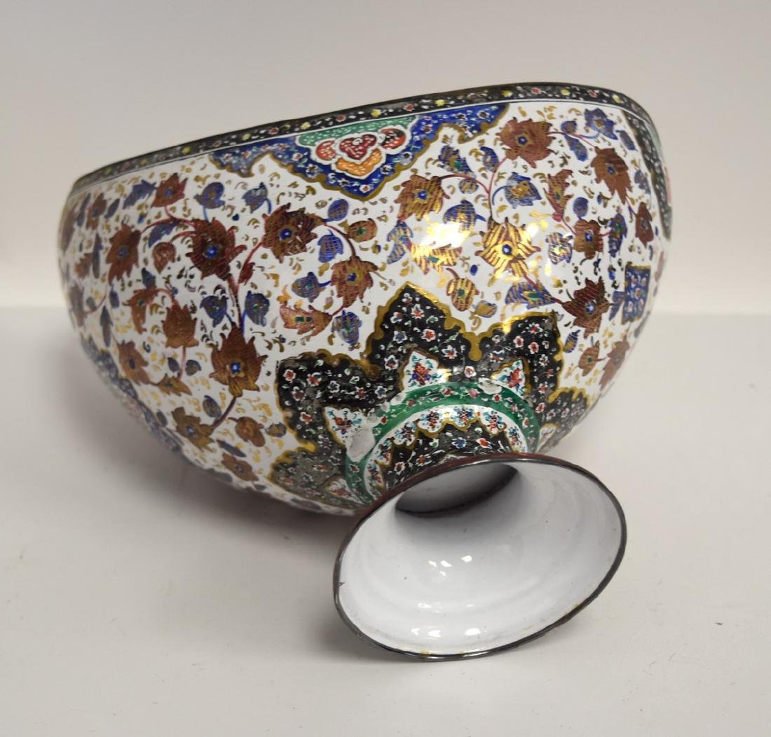 Unusual Persian Enameled Bowl - 5
