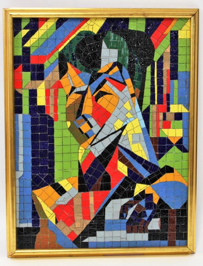 Mid Century Modern Mosaic Plaque