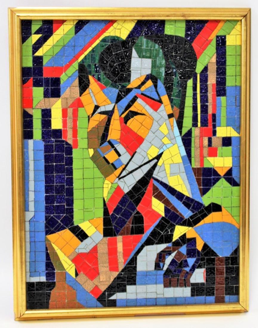 Mid Century Modern Mosaic Plaque - 2