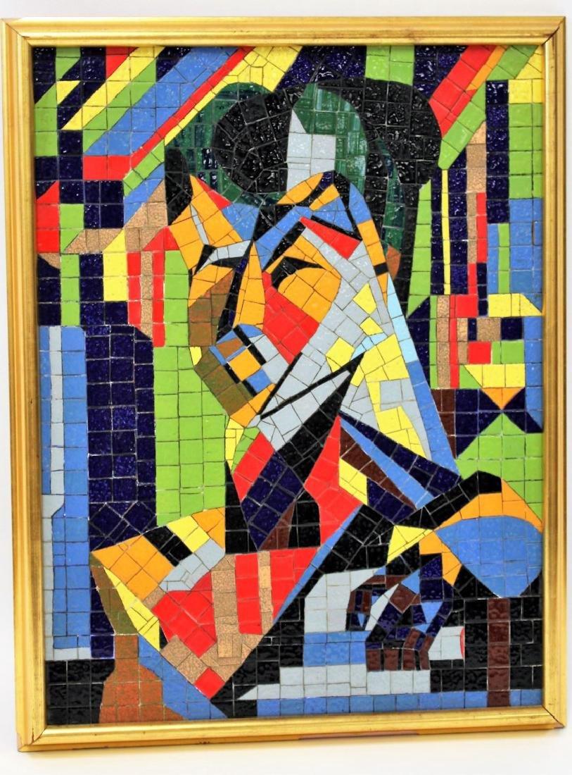 Mid Century Modern Mosaic Plaque - 3