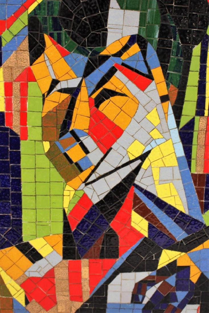 Mid Century Modern Mosaic Plaque - 5