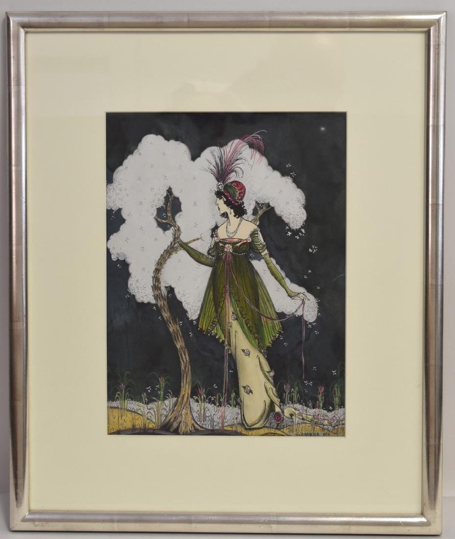 Georges Barbier; French Costume Design Gouache Signed - 2