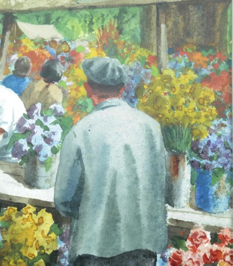 Henry Gasser; 20thC. Watercolor Italian Market Signed - 5