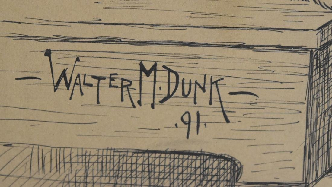 Walter M. Dunk; American Pen and Ink Illustration - 4