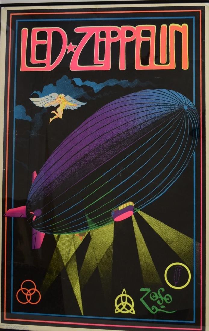 Vintage Led Zeppelin Blacklight Poster