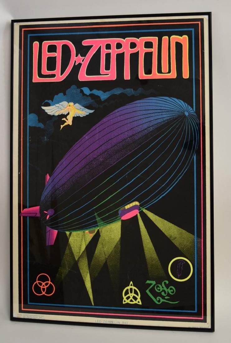 Vintage Led Zeppelin Blacklight Poster - 2