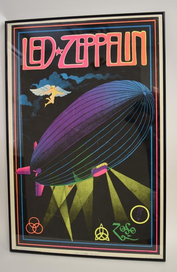 Vintage Led Zeppelin Blacklight Poster - 3