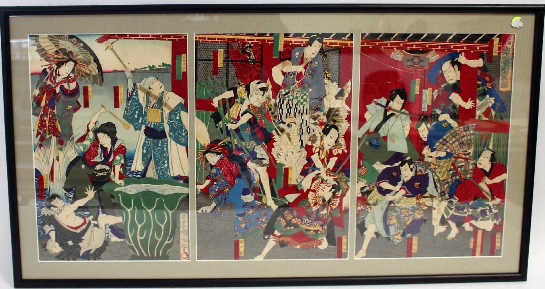 Japanese Woodblock Triptych