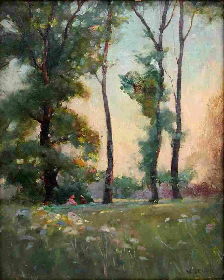 W. Dennis; American Oil Landscape Signed