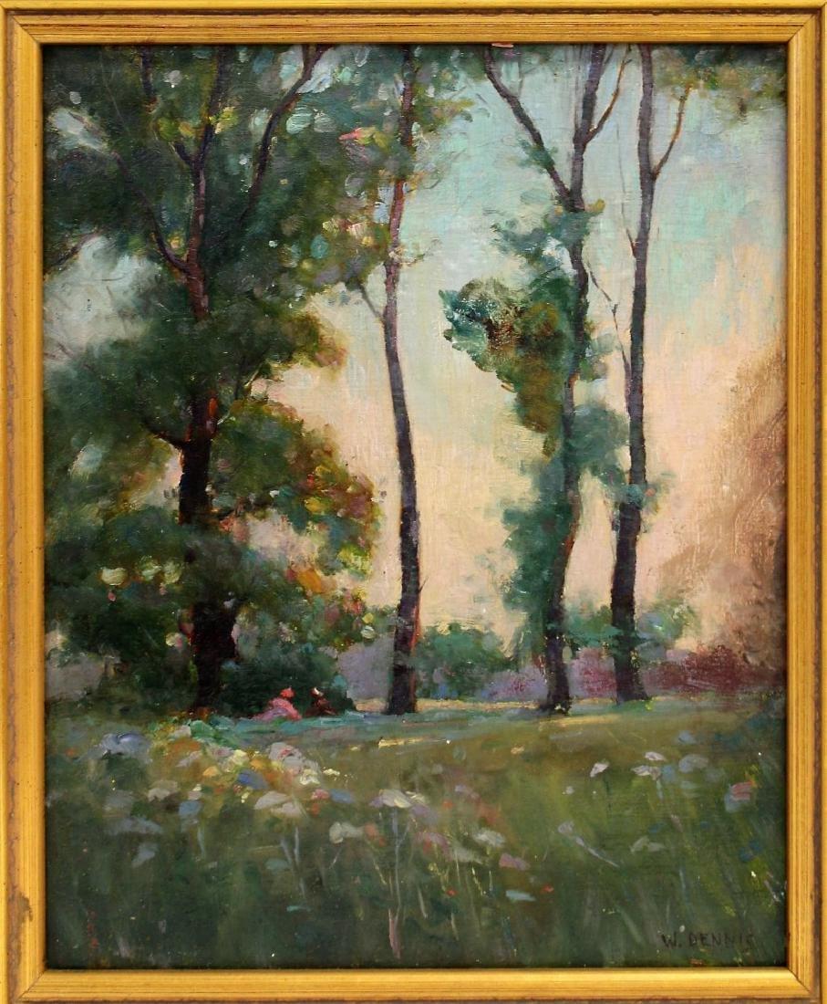 W. Dennis; American Oil Landscape Signed - 2