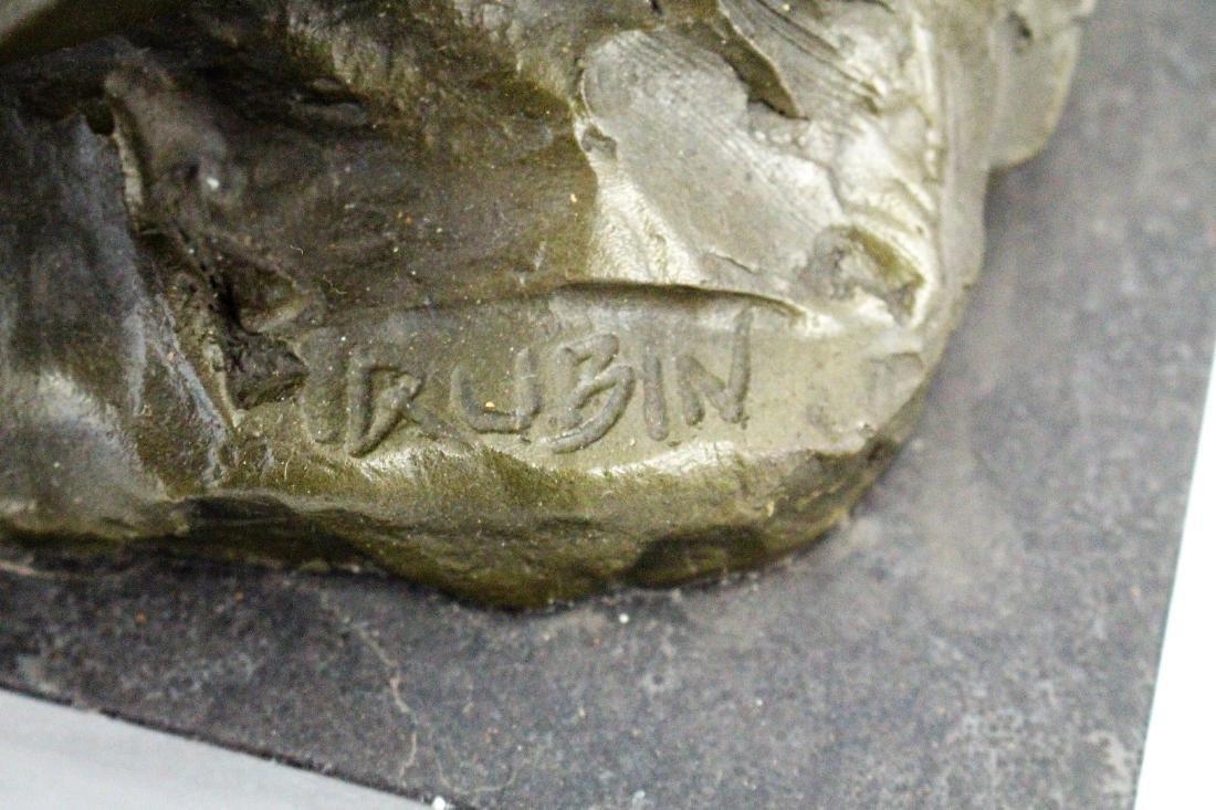 Rubin; 20thC. Western Bronze Signed - 4