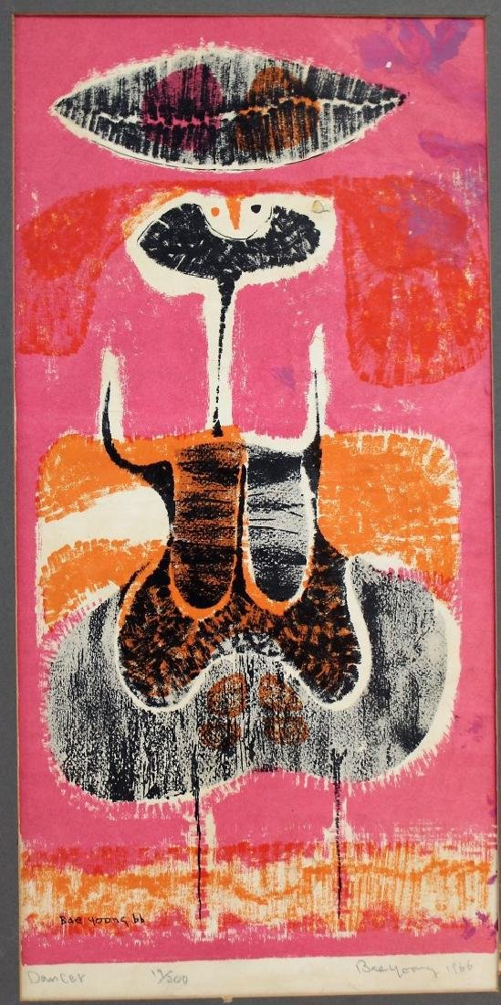 Bae Yoong; 20thC. Modernist Lithograph Signed