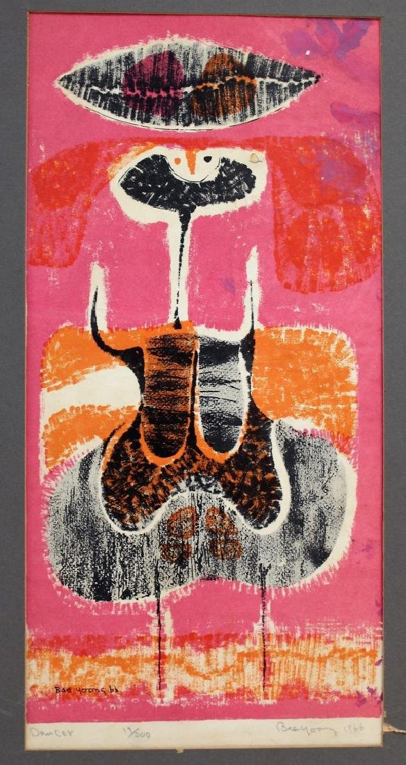 Bae Yoong; 20thC. Modernist Lithograph Signed - 2