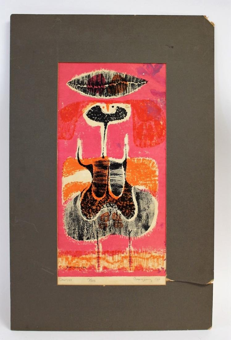Bae Yoong; 20thC. Modernist Lithograph Signed - 5