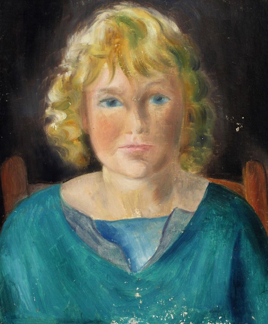 Konrad Cramer; 20thC. Oil Portrait - Artist's Daughter