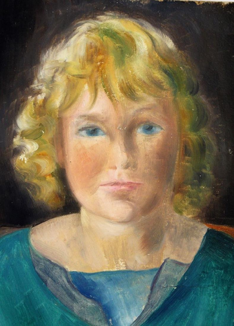 Konrad Cramer; 20thC. Oil Portrait - Artist's Daughter - 2