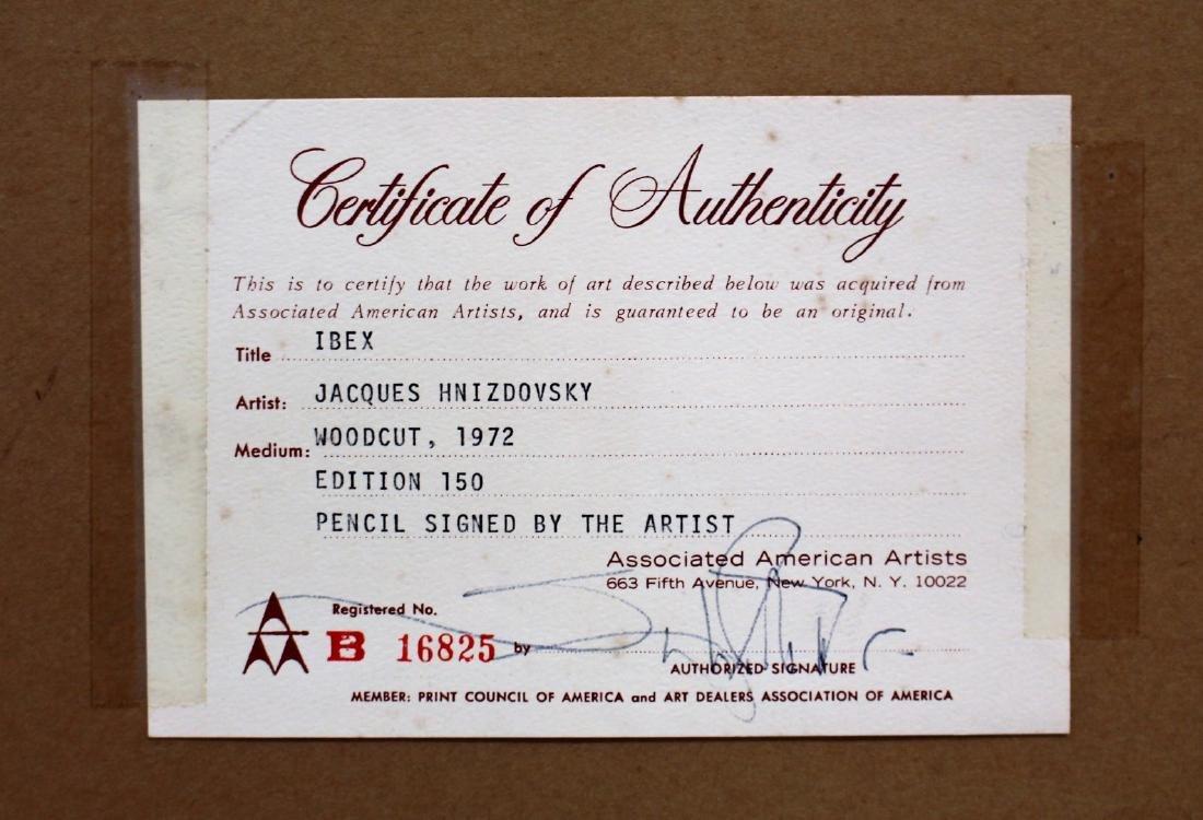 Jacques Hnizdovsky; 20thC. Woodcut Signed - 7