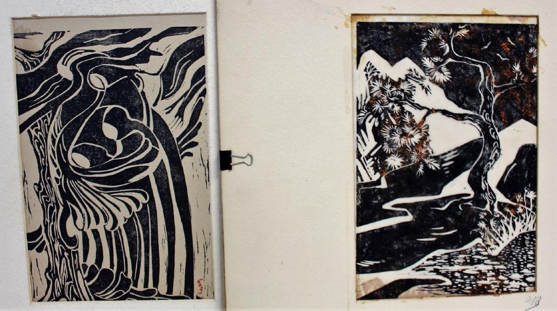 Five(5) Miscellaneous Woodcut Prints - 2