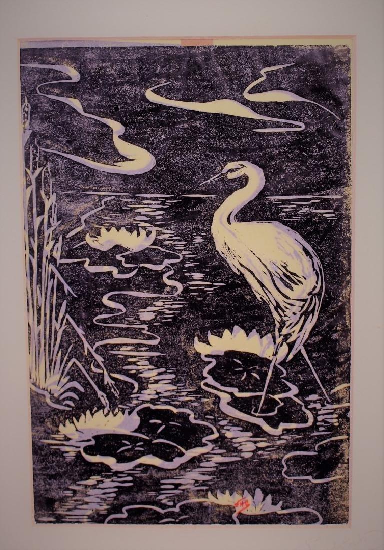 Five(5) Miscellaneous Woodcut Prints - 3