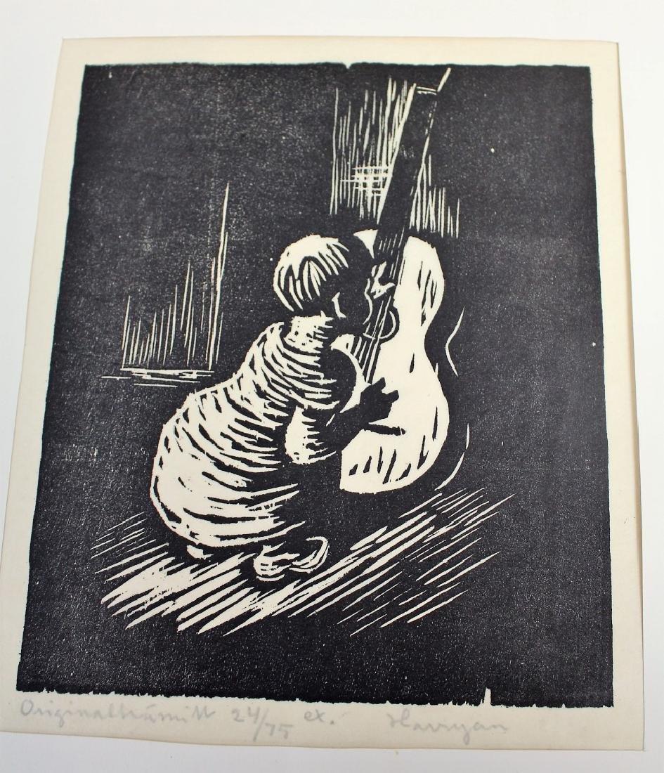 Five(5) Miscellaneous Woodcut Prints - 4