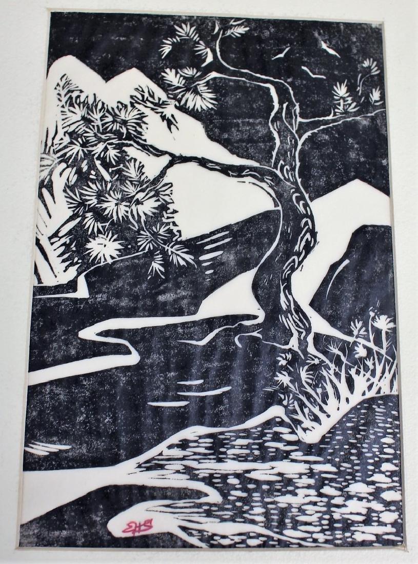 Five(5) Miscellaneous Woodcut Prints - 5
