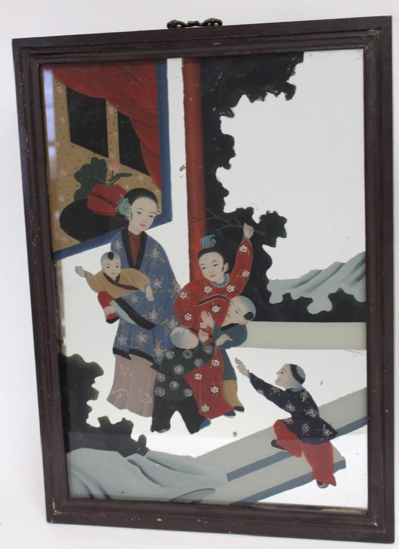 Chinese Reverse Painted Mirror