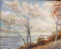 Hugh Bolton Jones American Watercolor Landscape Signed