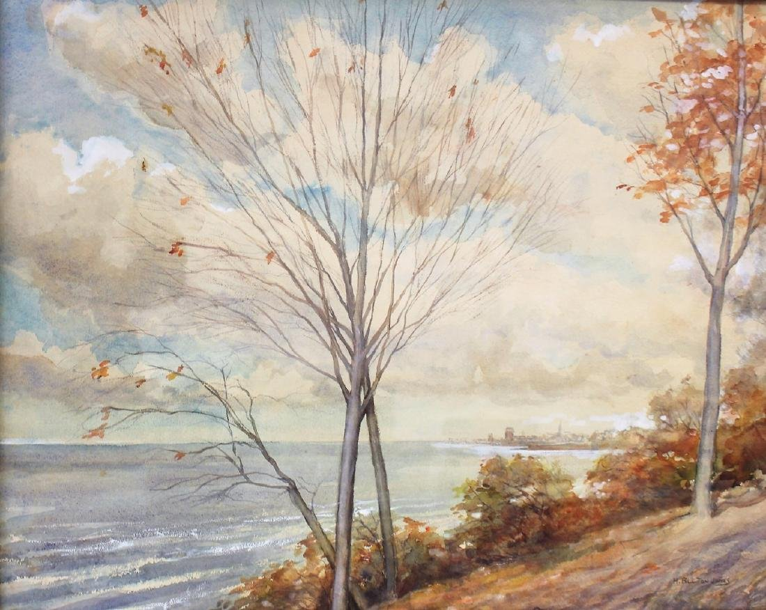 Hugh Bolton Jones; American Watercolor Landscape Signed - 2