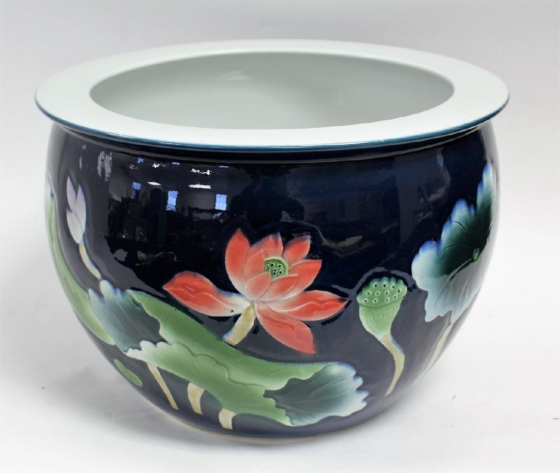 Chinese Enameled Porcelain Planter - 2
