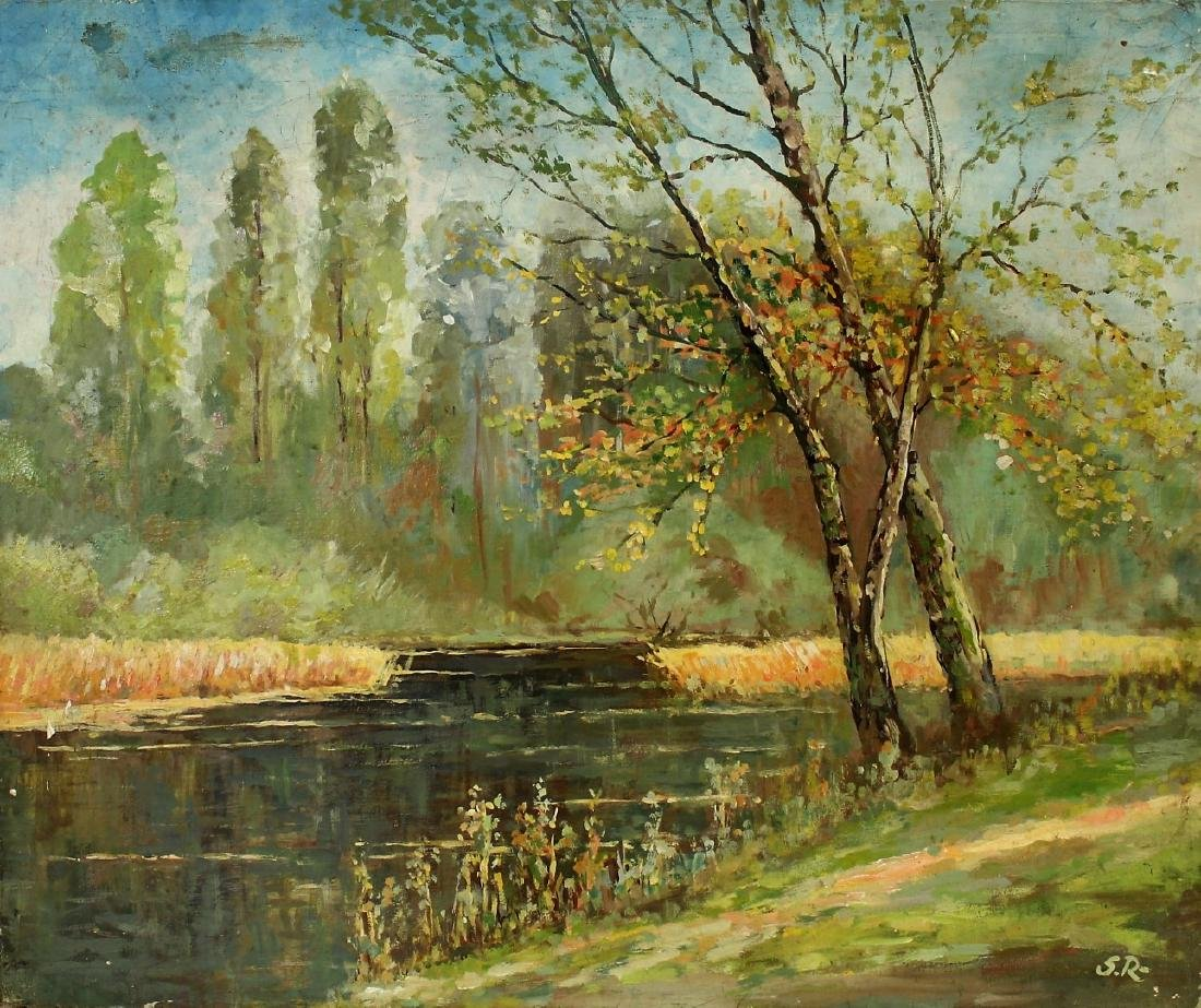 Serge Rusolofsky; 20thC. Oil Autumn Landscape Signed