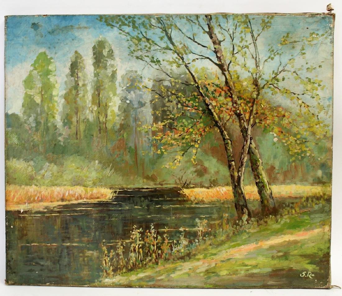 Serge Rusolofsky; 20thC. Oil Autumn Landscape Signed - 2