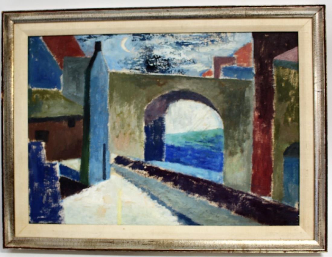 Niles Spencer; 20thC. American Modernist Oil Signed - 2