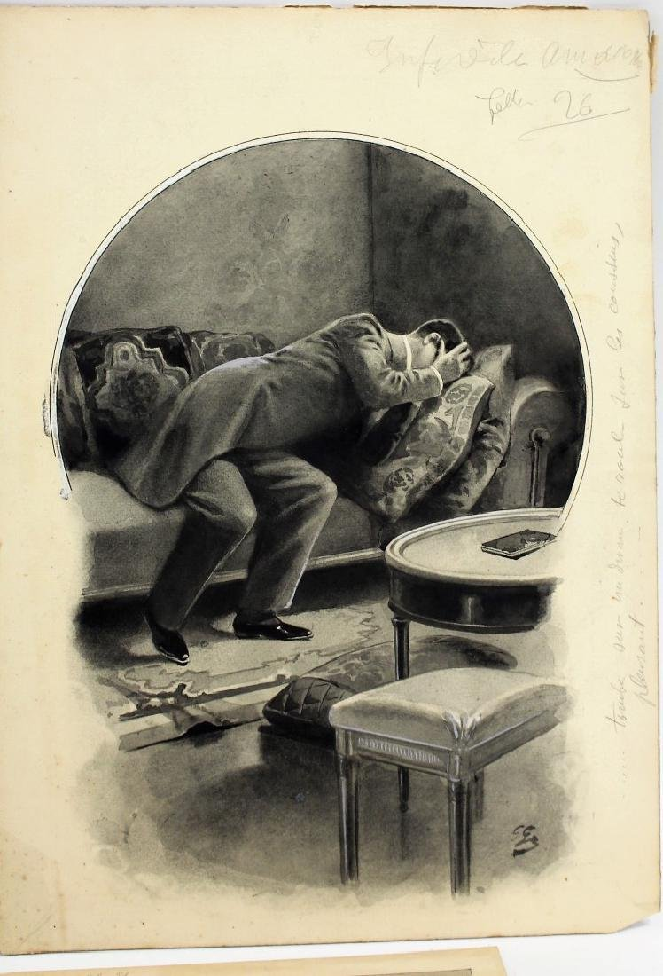 Four(4) Miscellaneous Gouache Illustrations - 3