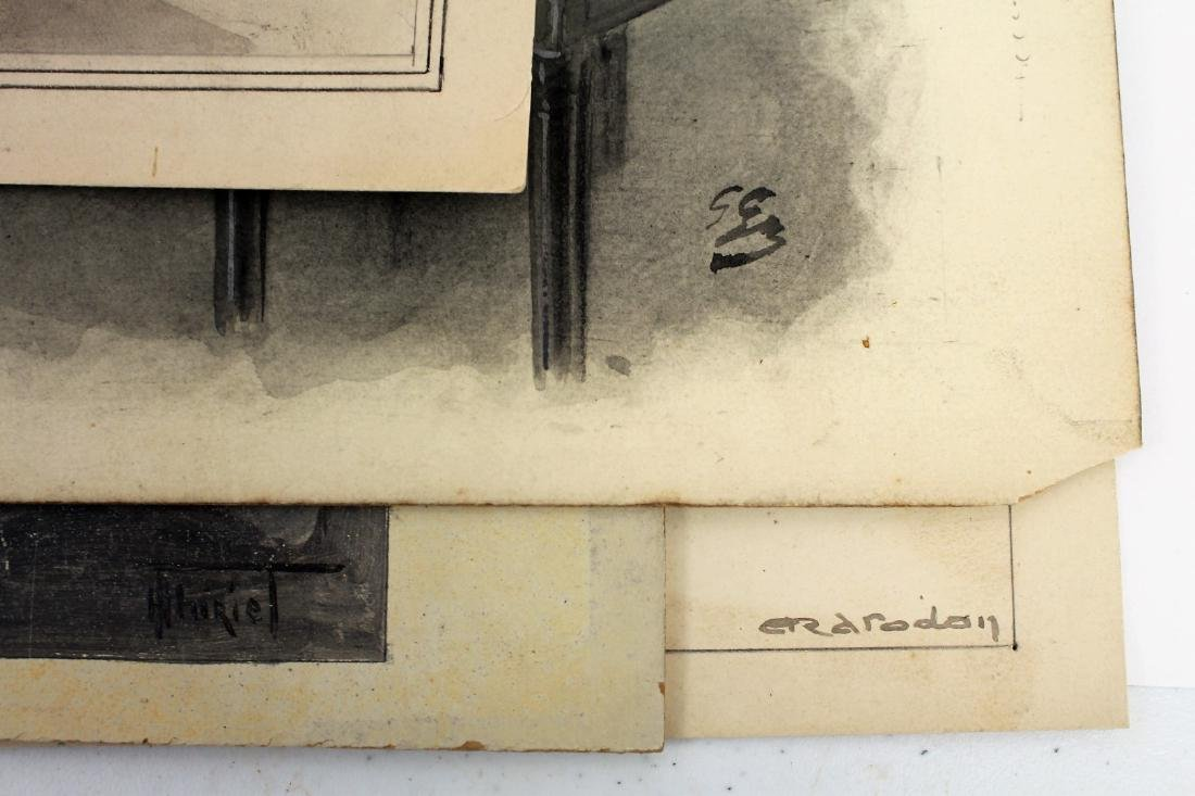Four(4) Miscellaneous Gouache Illustrations - 6