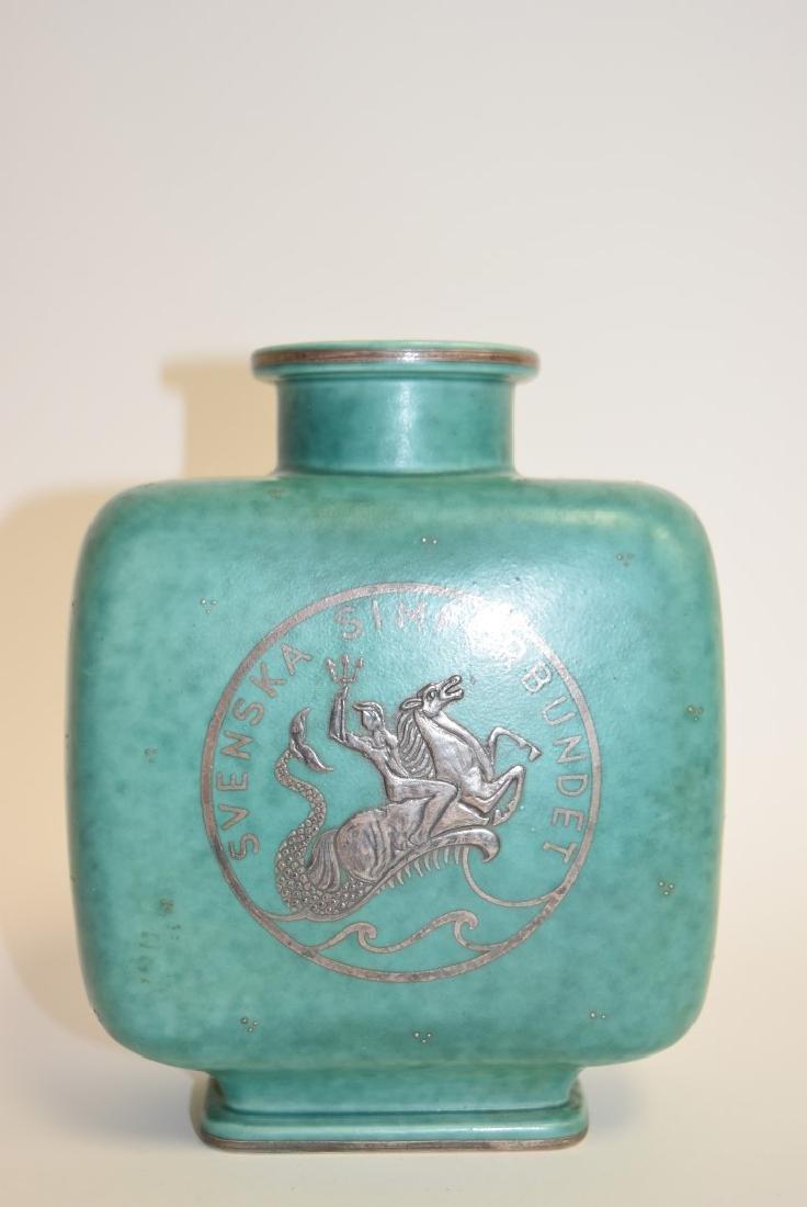 Gustavsberg Argenta Pottery Vase Signed
