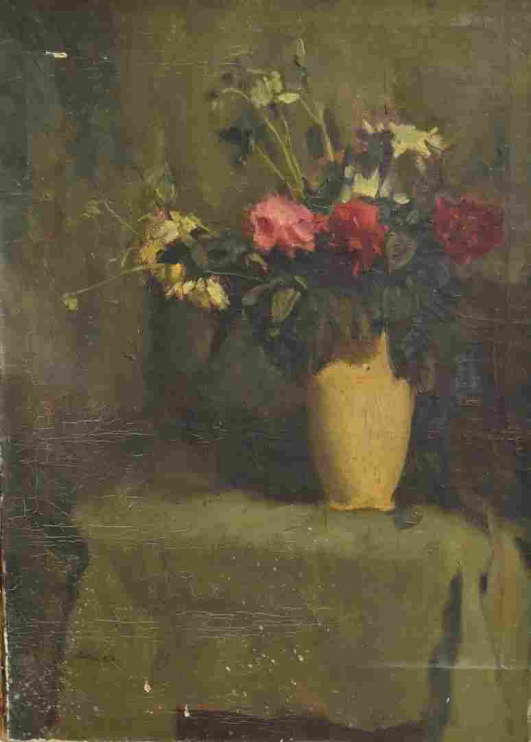 French Oil Still Life Signed