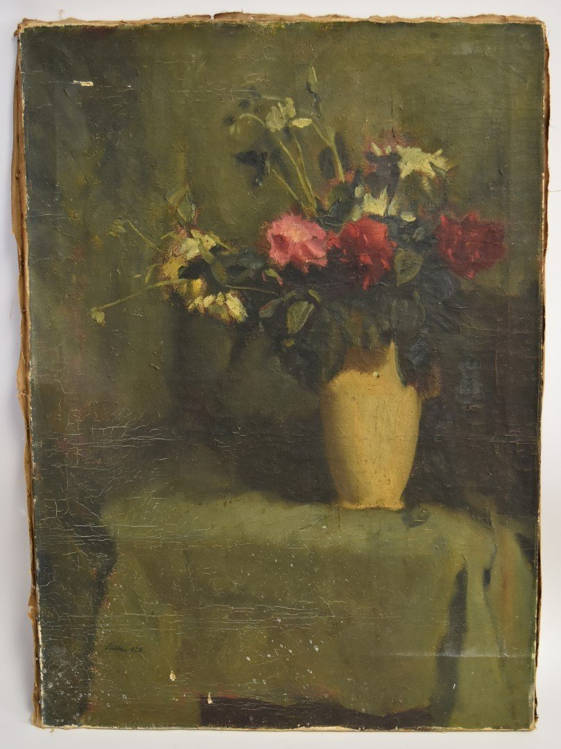 French Oil Still Life Signed - 2