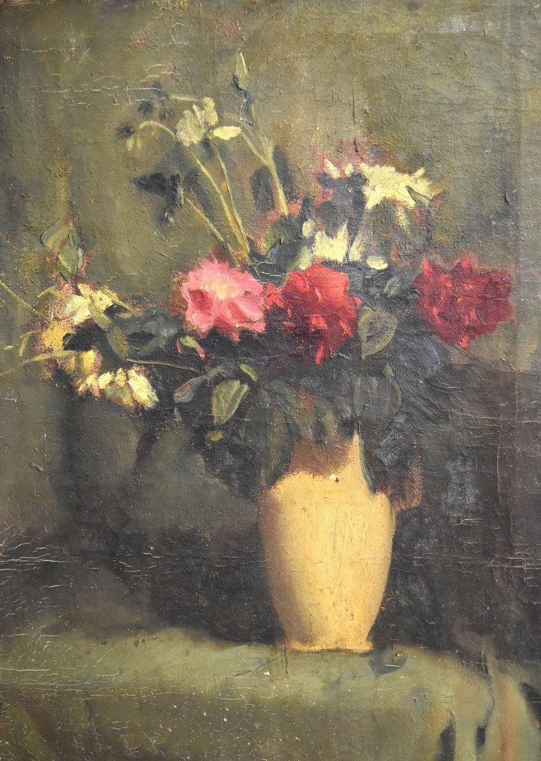 French Oil Still Life Signed - 3
