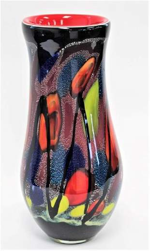 20thC Studio Art Glass Vase