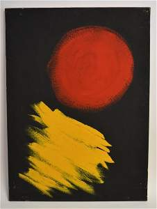 Sung-Ja Lee; 20thC. Korean Oil Abstract Composition