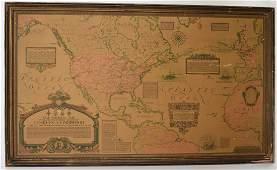Framed Map - Charles Lindbergh