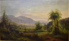 William L. Sonntag; 19thC. American Oil - New England
