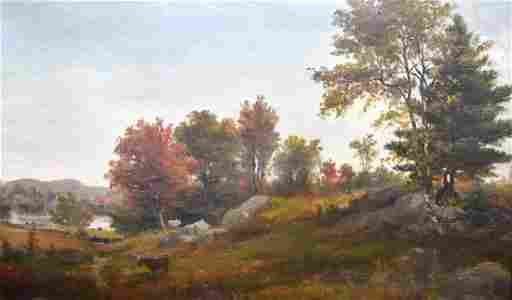 Edward M. Bannister; 19thC. American Oil - Pastoral